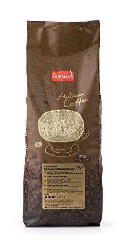 1 kg kolumbianischen Supremo Popayan - Single Origin Geröstete Kaffeebohnen - von Gurman's