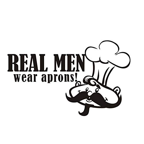 Big Beard Cook, con una gorra, comedor, extraíble, pegatinas de pared, muebles...