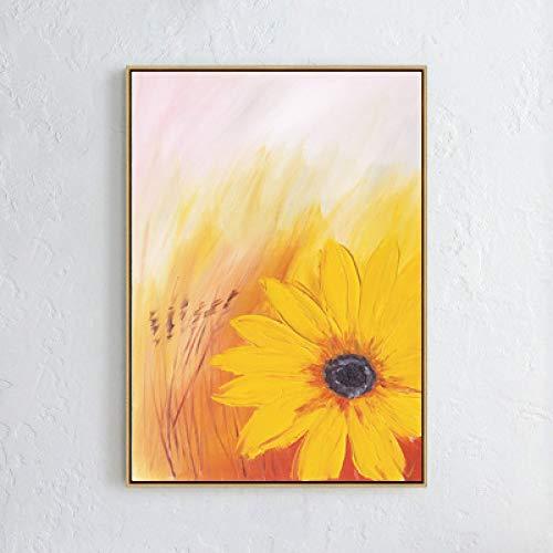 zlhcich Moderne minimalistische Ölgemälde Sonnenblumengemälde Kern rahmenlose Dekoration A 30 * 40 -