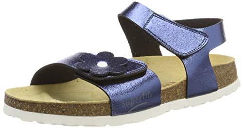 Superfit Mädchen Fussbettpantoffel Pantoffeln, Blau 80, 41 EU 41 Eu Sandalen
