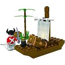 Kidoloop bloque de construcción pirata construcción barco tesoro 50pcs construir barco