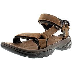 Teva Terra Fi 4 Leather M's - Sandalias Deportivas de cuero hombre, color marrón, talla 44.5