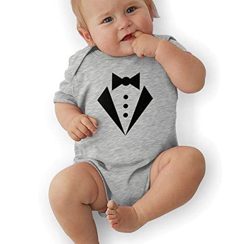 Tuxedo Kostüm White - Bodys & Einteiler,Babybekleidung, Baby one-Piece Suit,Baby Jumper,Pajamas, Newborn Baby Girl's Bodysuit Short-Sleeve Onesie Tuxedo White Print Jumpsuit Spring Pajamas