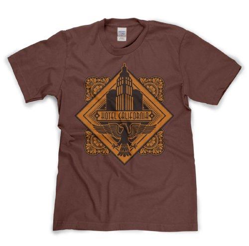 Hotel California Classic Rock Musik Legends Retro-T-Shirt Braun