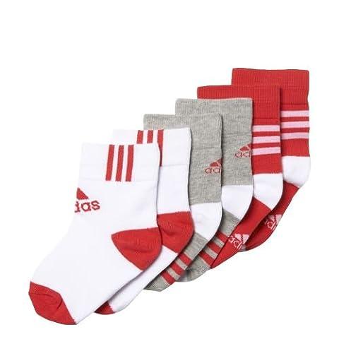 adidas LK ANKLE 3PP - Chaussettes courts pour Garçons, Multicouleur34,