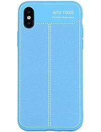 Flymaff - Funda para iPhone X (Incluye Protector de Pantalla de Cristal, absorción de Golpes, TPU, protección de Parachoques y Fundas de Almohada)