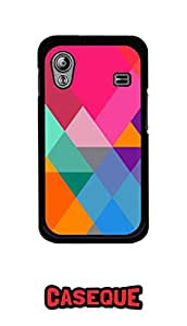 Caseque Snazzy Trio Back Shell Case Cover For Samsung Galaxy Ace