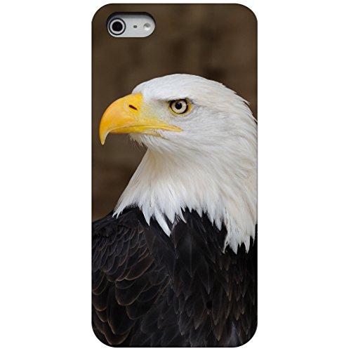 DistinctInk Fall für iPhone 5 / 5S / Se Benutzerdefinierte Ultra dünne dünne Harte Plastikabdeckung American Bald Eagle auf schwarzen Kasten