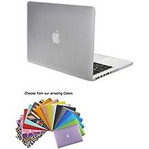 """MacBook Pro 15"""" con Retina Caso Funda TECOOL® Ultra Delgado Multi Colores Suaves al Tacto Duro Case Cubierta Plástica con TECOOL® Alfombrilla De Raton para MacBook Pro de 15"""" con Retina Display modelo: A1398(Clara)"""