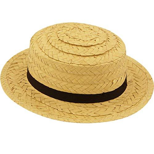 Farmer Kostüm Strohhut - German Trendseller® Stroh Hut - Deluxe -┃ mit Band ┃ Sonnenhut - Urlaub ┃ Beach ┃ Strand ┃ Sonnenhut aus Stroh