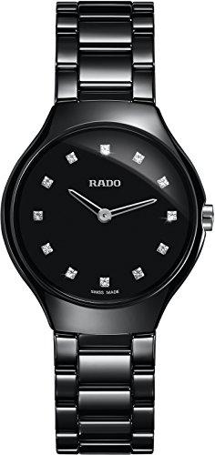 Rado Men's Quartz Watch with Black Dial Analogue Display Quartz Ceramic 420.0742.3.073