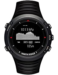 North Edge Herren Military Digital Sport Armbanduhr LED Hintergrundbeleuchtung Display Uhren wasserdicht Casual H?henmesser Kompass Stoppuhr Alarm Multifunktions Armbanduhr