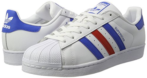 adidas Superstar Foundation Schuhe 6,5 white/blue/red - 5