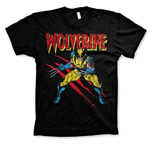 Wolverine X-Men Logan Marvel Oficial Camiseta para Hombre (Medium)
