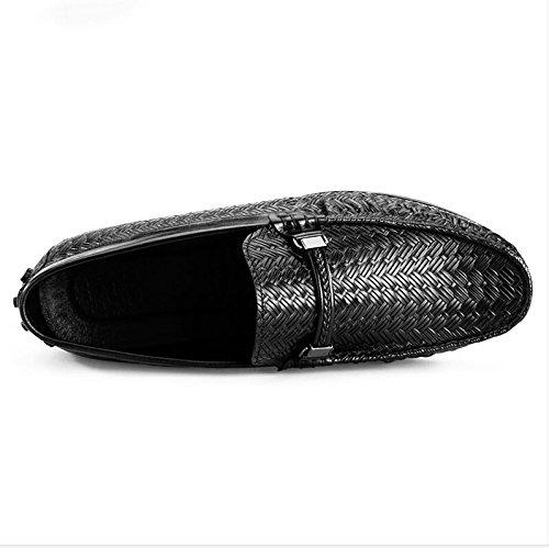 Zapatos Casuales De Cuero Para Hombres Vestido De Smoking Boda De Moda Para Negocios En Marrón Negro C