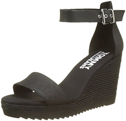 Hilfiger Denim Damen Sporty Denim Wedge Sandal Espadrilles, Schwarz (Black 990), 39 EU