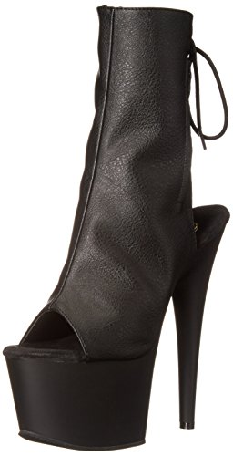 Pleaser Adore 1018, Damen Stiefel, Schwarz (Blk Faux Leather/Blk Matte), 40 EU (7 UK) (High 7 Heels)