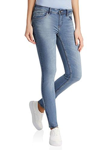 oodji Ultra Donna Jeans Skinny, Blu, 28W / 30L (IT 44 / EU 28 / M)