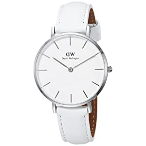 Daniel Wellington Damen Analog Quarz Smart Watch Armbanduhr mit Leder Armband DW00100190