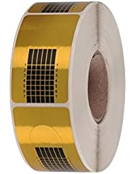 GS-Nails 500 Modellierschablonen Eckig selbstklebend Square-Gold Nagelschablonen für Gel Verlängerung