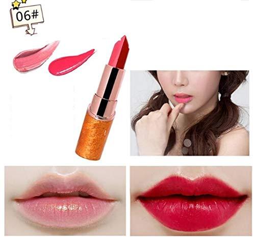 Antihaft-Lippenstift-Makeup Carotin überlagerter zweifarbiger doppelseitiger Perlen-Lippenstift...