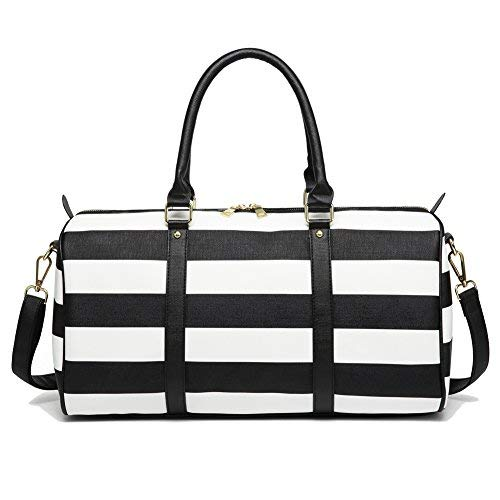 Womens Overnight Weekender Bag with Strap - Black