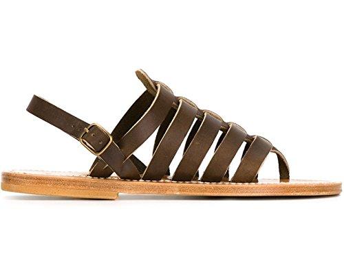 Sandales K Jacques Homere homme en cuir marron - Code modèle: HOMERE H CUIR PUL MELEZE Marron