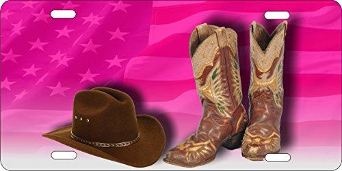 ATD® Design LLC Neuheit Nummernschild Cowgirl Stiefel und hat