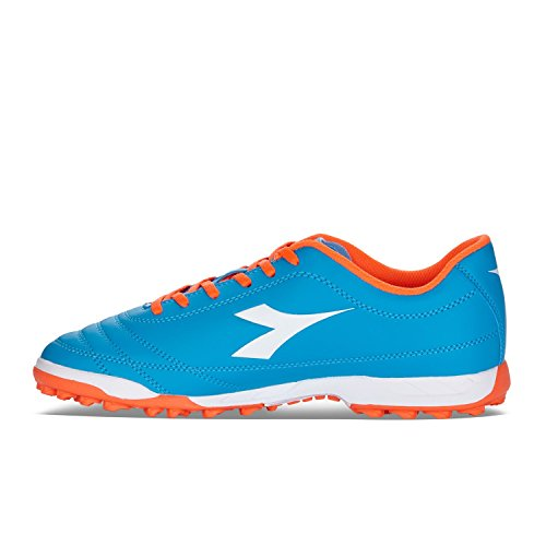 Diadora 650 III TF Chaussure de football pour surface synthétique pour Homme Azzurro / Rosso Fluo