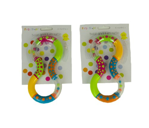 First Steps Twist and Turn Rattles Set of 2 Encouraging your Baby to Grasp and Reach 6 Months + 41Vc1tXJ1hL