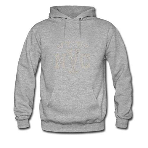 HGLee Printed Personalized Custom New York City Womens Sweatshirts Hooded Hoodies Gray--3