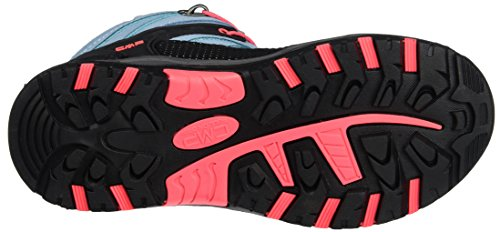 CMP Rigel, Chaussures de Randonnée Hautes Mixte Enfant Turquoise (Clorophilla-red Fluo)