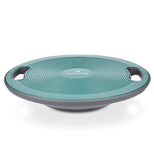 Navaris tabla de equilibrio con asa - plataforma de balance coordinación - disco para entrenamiento fitness - balance board Ø 40cm petróleo