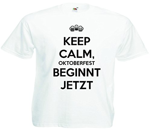 T-Shirt Oktoberfest Wiesn München Junggesellenabschied für Frauen Männer und Kinder in allen Größen XS bis 4XL oder Kinder 104 bis 164 Motiv Nr.32 Kinder-Weiß