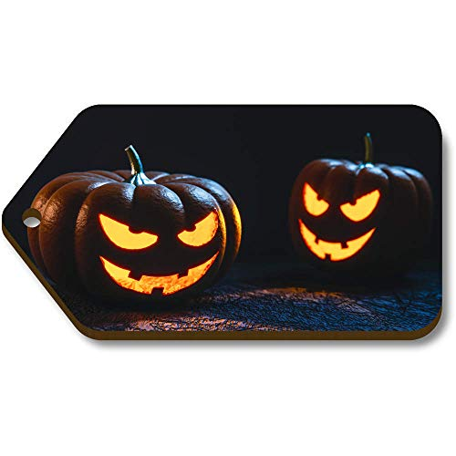 (Azeeda 10 x 'Halloween Kürbisse' 66mm x 34mm Hölzerne Tags (TG00003011))