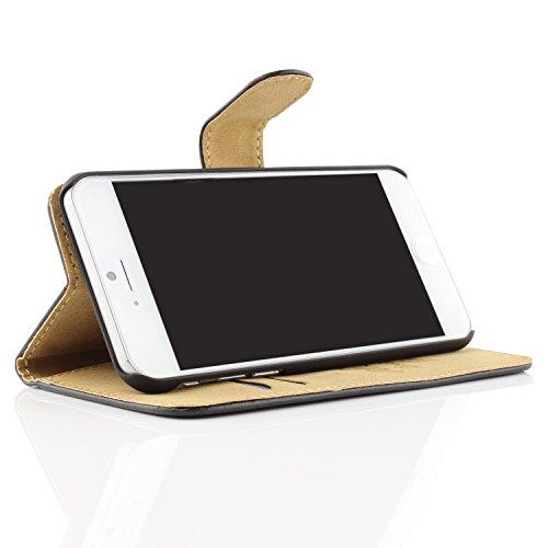 iPhone 6 / 6s Étui, Urcover Housse Livre Wallet Coque Apple iPhone 6 / 6s Case [avec Fente pour Cartes + Support] Téléphone Noir Smartphone Rouge