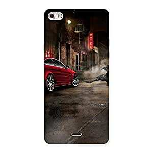 Stylish Red Car Impact Multicolor Back Case Cover for Micromax Canvas Silver 5