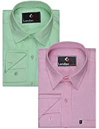 London Looks Formal Shirts (Combo Of 2)