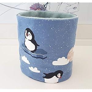 Hundeloop Loop Schal Hund Pinguin grau 28/31 Handarbeit Handmade