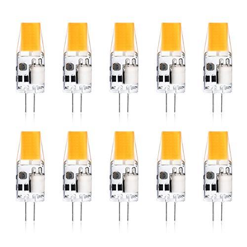 Preisvergleich Produktbild Creyer G4 LED Lampen Kein Flackern / 300 lumens / 3W ersetzt 30W Halogenlampen/Warmweiß 2900K / Nicht Dimmbar / G4 LED Leuchtmittel Birne / 12V AC/DC / 10er Pack