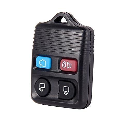 Noir Universel de rechange 4Bouton l'entrée sans clé télécommande voiture Transmetteur Porte-clés Clicker pour Ford, 2