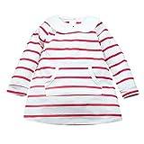 Mädchen Langen Ärmeln Streifen Prinzessin Kleid Baby Print Kinderkleidung