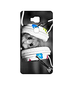 Vogueshell Mice Listening Music Printed Symmetry PRO Series Hard Back Case for Huawei Honor 5X
