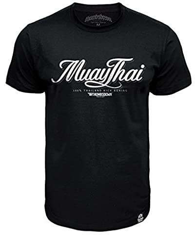 Muay Thai T-shirt 100% Thailand Kick Boxing (size Small)