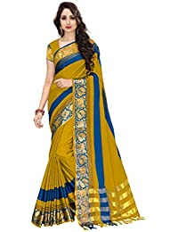 54e5daea71863 Venisa Women s Cotton Soft Silk Saree with Blouse Piece