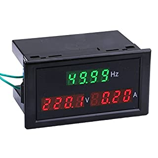 Yeeco Digital Multimeter AC 80-300V 100A Din-Rail Stromspannung Stromstärke Frequenz Zähler AC Volt Ampere Prüfer Spur Monitor LED Digital Anzeigen Volt Strom Messung Instrument Mit CT