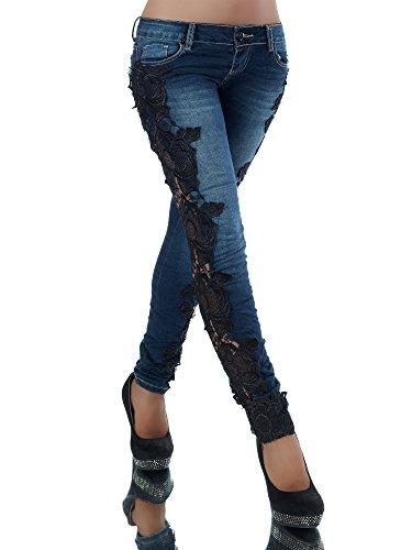 Diva-Jeans -  Jeans  - skinny - Basic - Donna Blau S/42