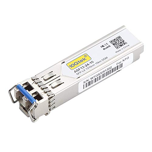 10Gtek® Gigabit SFP LX Singlemode Modul, 1000Base-LX SFP LC Transceiver, Kompatibel für Cisco GLC-LH-SMD, Ubiquiti, Netgear, D-Link, TP-Link, Zyxel, Mikrotik, Open Switch, MEHRWEG - Hot Pluggable Single