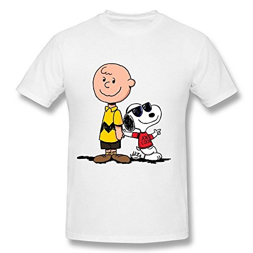 Men's Charlie Brown and Snoopy Joe Cool DeepHeather T Shirt X-Large