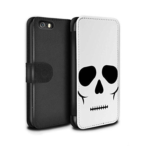 Stuff4 Coque/Etui/Housse Cuir PU Case/Cover pour Apple iPhone 5C / Frankenstein Design / Personnage Halloween Collection Crâne